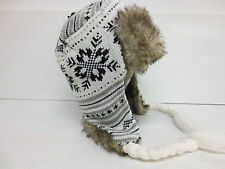 FAUX FUR TRAPPER HAT STYLE NUMBER GL437 AVAILABLE IN  BLACK AND WHITE