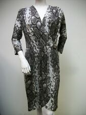 Michael Kors Java Python Snake Print Jersey Knit Wrap Dress MU28G51SH3 XS S M