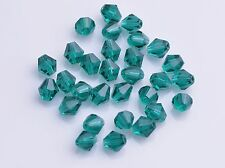 100pcs Quality Faceted Glass Crystal Bicone Spacer Beads 60 Color U Pick 4mm