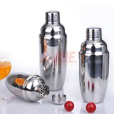 12 & 24 oz Stainless Steel Cocktail Martini Drink Shaker Mixer Party Bar Kit Set