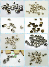 100pcs 10*10mm 9*9mm 9*8mm 8*8 mm Double Cap Rivets rivets silver  Leather craft