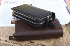 New Men's PU Leather Business Clutch Bags Handbag Briefcases Wallet