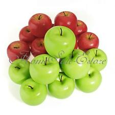 Decorative Large Artificial Fake Red Green Apple Plastic Fruits Home Party Decor