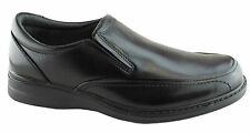 HUSH PUPPIES TRANSIT MENS COMFORT SHOES EEE WIDE FITTING SLIP ON SHOE LEATHER