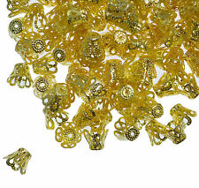 100 Bead Caps 8mm Filigree Bell Cone Dome Jewellery Making Findings