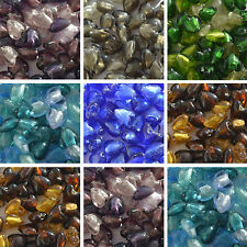 10 Silver Foil Glass Heart Beads 12 mm Jewellery Making - CHOOSE COLOUR