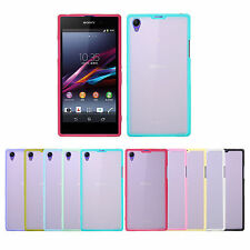 Slim Fit Soft Bumper Hybrid Hard Matte Back Case Cover for Sony Xperia Z1 L39h