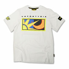 Official MotoGP Valentino Rossi #46 mens white t-shirt The Doctor VR46 apparel