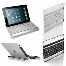 Aluminum Wireless Bluetooth Keyboard Stand Case Cover Dock for iPad 2 3rd 4 Gen