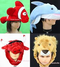 XMAS Halloween Party Animal Crab Cow Snake Fish Sheep Rabbit Warm Hat Costume