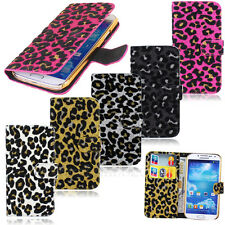 Villus Leopard Fur Hair Wallet Pouch Case Cover For Samsung Galaxy SIV S4 i9500