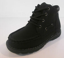 Boys JcDees black nubuck pu lace up ankle boot N2005