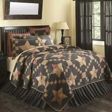 ARLINGTON AMERICANA STAR NAVY 3PC QUEEN CAL KING QUILT SHAMS BED SET VHC BRANDS