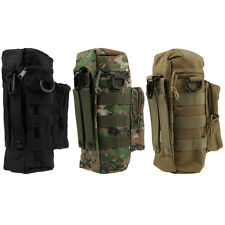 Outdoor Molle Water Bottle Medic Pouch Digital Camo Woodland Black Tan