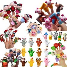 New 8Types Family Finger Puppets Doll Baby Educational Hand Toy Story Kid Gift