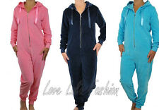 Womens Onesie Ladies Velour Casual Lounge Wear By Love Lola All In One Playsuit