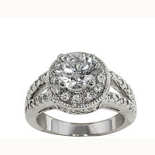 NEXTE Jewelry 14k White Goldplated CZ Royal Bridal-style Ring