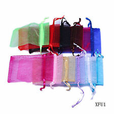 Wholesale 3.5x5'' 9x12cm Organza Wedding Jewelry Packing Favour Gift Bags Pouch
