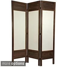 Wood/ Fabric Solid Frame 5.5-foot Room Divider (China)