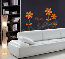 3 Daisy Flower Vinyl Wall Art Sticker Decal Decoration Bedroom Livingroom T=1M