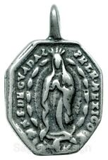 OUR LADY OF GUADALUPE / ST. BARBARA Medal, silver, from antique Italian original