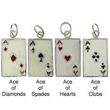 La Preciosa Sterling Silver Enamel Ace Playing Card Charm