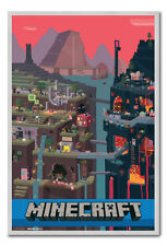 Framed Minecraft Video Game Poster Ready To Hang - Choice Of Frame Colours