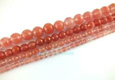 6,8,10,12,14,16mm Watermelon Quartz Glass Round 128 Faceted Loose Beads 15''
