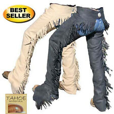 Tahoe Tack Western Synthetic Suede Show Chaps Colors Sand or Black