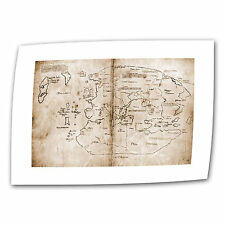 Unknown 'The Vinland Map' Unwrapped Canvas