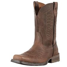Ariat Men's Rambler Phoenix Cowboy Western Boots Distressed Brown 10010944