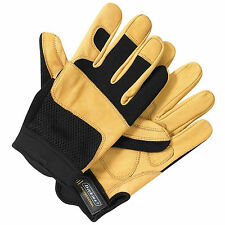 MENS DICKIES PROFESSIONAL MECHANIC LEATHER PERFORMANCE GLOVES WARM WORK WEAR NEW