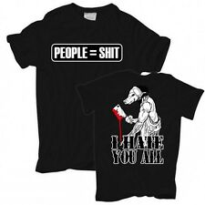 TShirt People = Shit I hate you all saw horror slip killer death tod bis 10XL