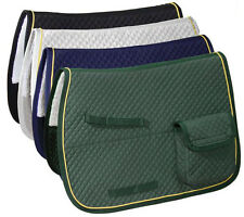 Derby AP Quilted Horse English Saddle Pad with Pockets & Half Fleece Padded