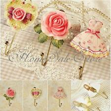 Wall Mounted Vintage Rose Hat Coat Robe Hook Door  Clothes Hanger Bathroom Towel