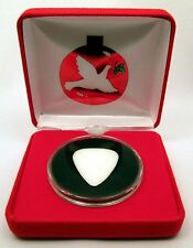 Red Velour Box With Made In USA Christmas Tree Ornament Capsule - MADE IN USA!