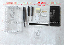 2nd No Wiring LED DIY Luminescent iPhone 4, 4S Glowing Apple Logo Mod kit +tools