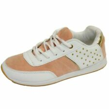 LADIES GIRLS WHITE CASUAL GYM SPORTS RUNNING JOGGING TRAINERS SHOES SIZES 3-8
