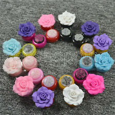 New Camellias Contact Lens Case Travel Cleaning Box Container Soaking Storage