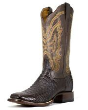 Lucchese Men's Hornback Caiman Cowboy Western Boots Brown M4539 Size 9.5 B