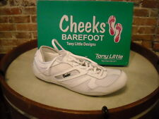Tony Little Cheeks White  Leather Mesh Barefoot Trainer Shoes NEW