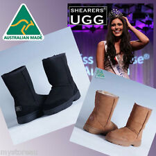 BIG SALE - HAND-MADE Australia SHEARERS UGG Outdoor Short Sheepskin Boots