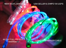 led light-up MICRO USB data sync charger power charge cable el htc sony samsung