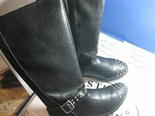 NIB MADDEN GIRL KNEE HIGH HARNESS/BIKER STYLE BOOTS FULL SIDE SIPPER