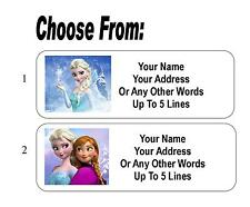 30 Frozen Princess Personalized Address Labels