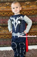 Amazing Thor Super Hero Boy Kid Party Costume Outfit Cosplay Cloth Set Gift 2-7Y