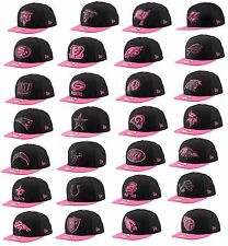 New NFL BCA Black New Era Breast Cancer Awareness Snapback Cap Hat