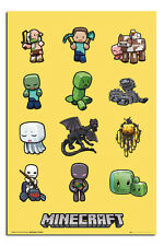 Minecraft Characters Large Official Wall Poster New - Laminated Available