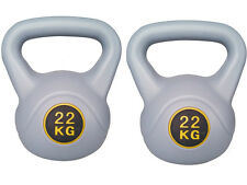 22 KG KETTLEBELL GYM TRAINING WEIGHT EXERCISE STRENGTH WORKOUT PAIR KETTLE BELL