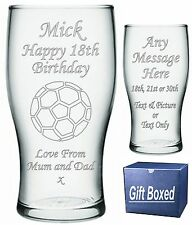 Engraved Pint Glass 18th 21st 30th Birthday Gift KA1
